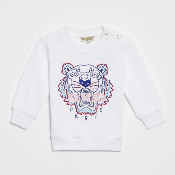 a89727e0 Kenzo Shirts & Tops | Baby Girl White Tiger Sweatshirt | Poshmark